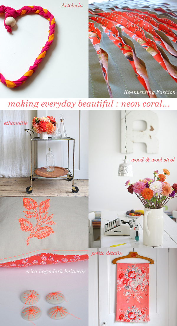 making everyday beautiful : neon coral | Emma Lamb