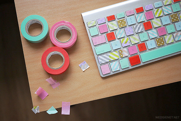 5分で出来る!マスキングテープでPCのキーボードを簡単DIY♡