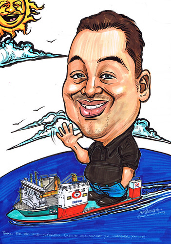 Caricature for Dockwise Shipping B.V