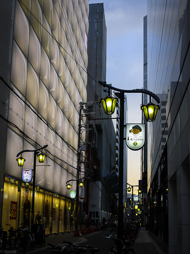Street Lamps at Shinsaibashi by hyossie