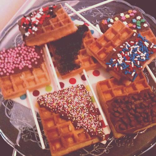 Chocolate Waffle Pops