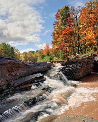 Greenwood Falls Siver City, Michigan