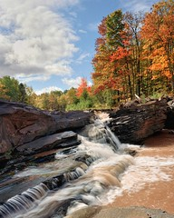 """Greewood Falls"" Siver City, Michigan by Michigan Nut"