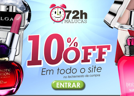 72 horas malucas: 10% off