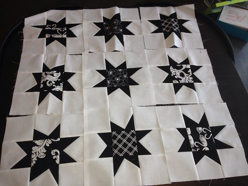 Black and White Wonky Stars