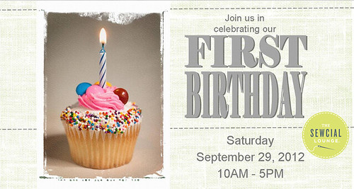 The Sewcial Lounge's First Birthday Party! by Jeni Baker