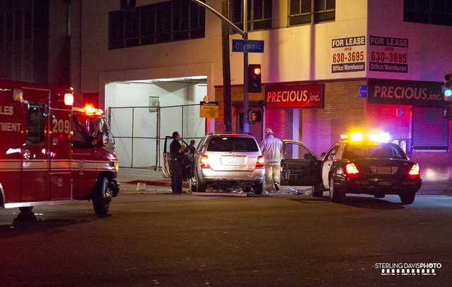 Car Crash Los Angeles: Car Accident: Car Accident Downtown Los Angeles