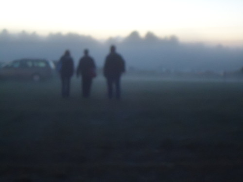 family in the fog