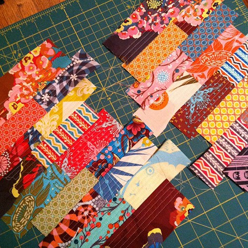 275:365 Having fun with some QAYG AMH panels. Wish I had the right size zipper to finish.