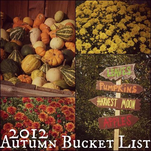 2012 autumn bucket list