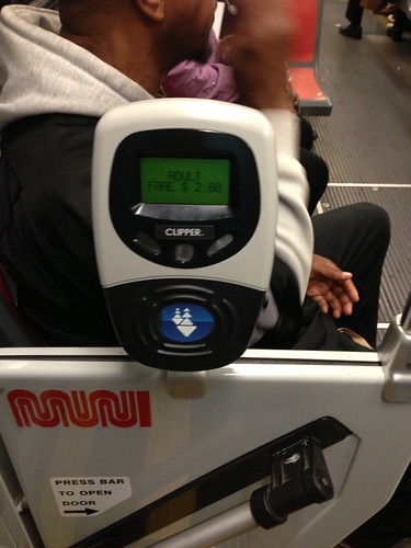 Clipper Card Reader on MUNI Streetcar