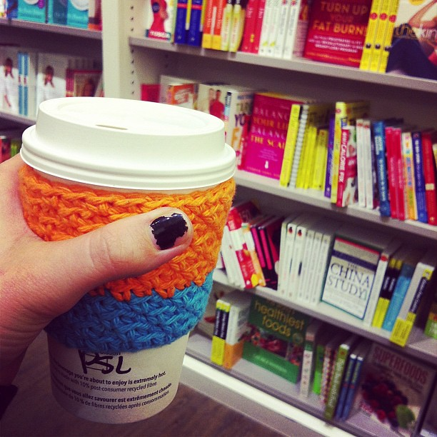 Noah sent me away for some alone time so I went to the land of coffee and books.