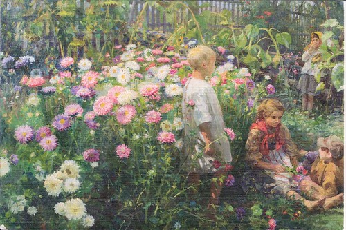 Children among Flowers Fedot Sychlov