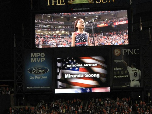 NAM Miranda Soong singing National Anthem