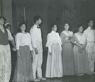 "Students in a skit about the citrus industry from ""Our Pomona: Stories from the First Century,"" performed as part of the Centennial celebration"