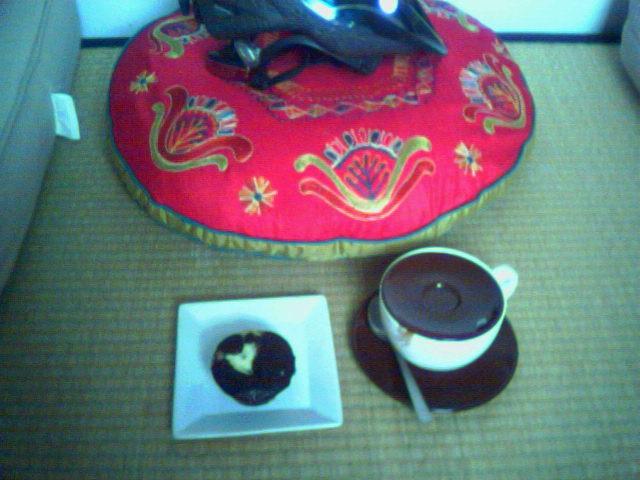 Oolong tea & a yummy muffin
