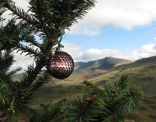 Christmas bauble & Cadair Idris by Helen in Wales