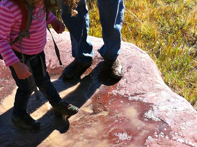 Shoe Bath - Hiking at NCAR, Boulder, CO