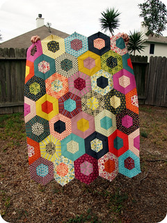 Chicopee Hexagon Quilt Top