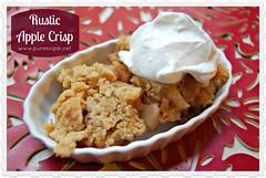 pie(0.0), meal(0.0), coconut(0.0), ice cream(0.0), baked goods(0.0), produce(0.0), fruit(0.0), breakfast(1.0), apple crisp(1.0), food(1.0), dish(1.0), dessert(1.0), cuisine(1.0), crumble(1.0),
