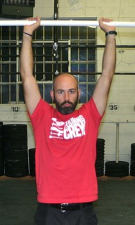 No external rotation to lock out elbows!