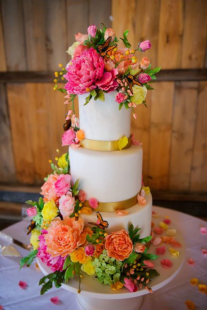 Floral Wedding Cake by Best Friends For Frosting