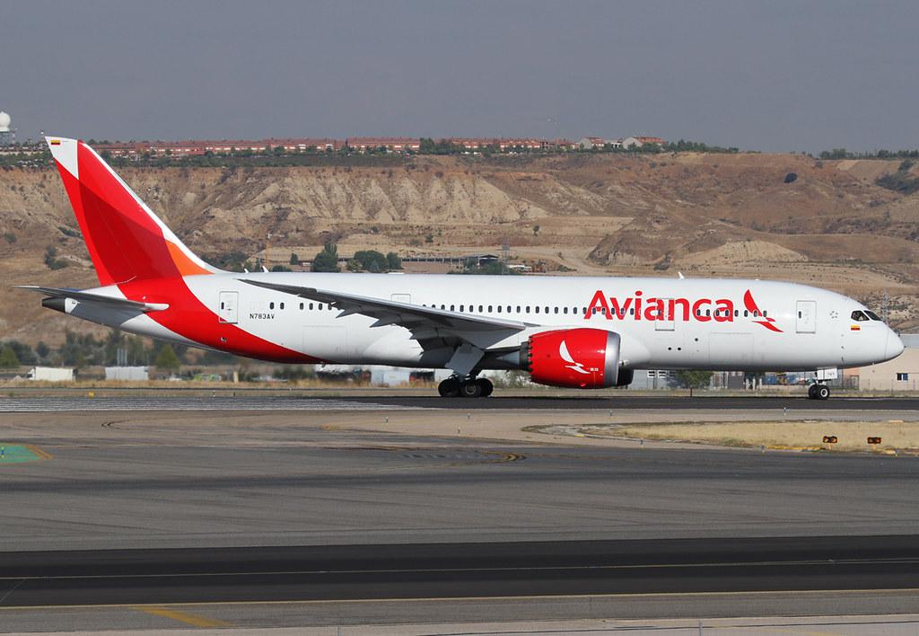 Lining up on RWY14R for departure to Bogota BOG. Delivered 12/2014.