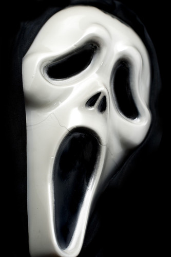Scream ghost face, halloween screaming mask