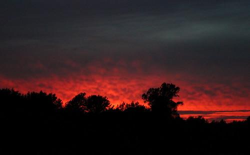 sunset poland warsaw białołęka