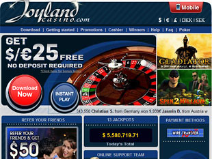 Joyland Casino Home