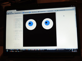 MakeyMakey DIY eyeball UI