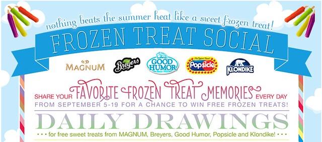o2o frozen treat contest