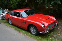 race car, automobile, vehicle, aston martin db4, antique car, classic car, vintage car, land vehicle, coupã©, sports car,