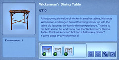 Wickerman's Dining Table