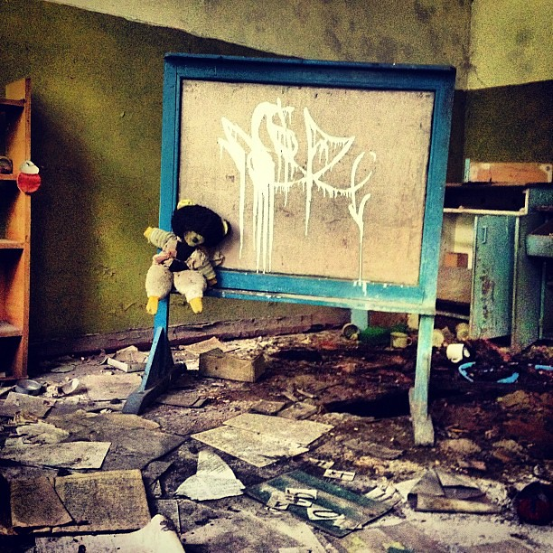 Inside an abandoned school #chernobyl
