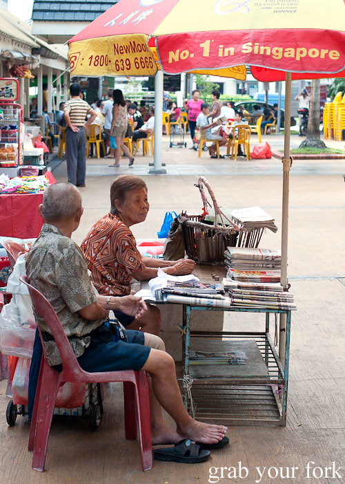 newspaper stand at kallang estate fresh market singapore