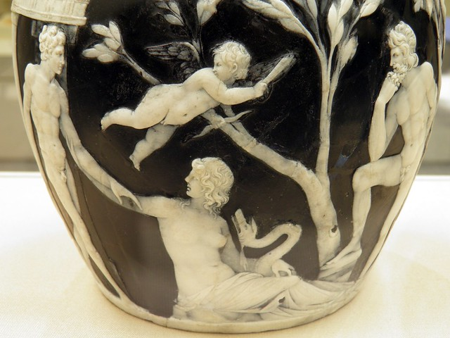 Wedding scene, detail of the side B of the Portland Vase. Cameo-glass, probably made in Italy ca. 5-25 AD