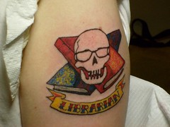 Librarian tattoo