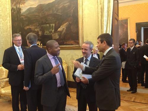 Maurizio Lupi con il Vp del parlamento nigeriano