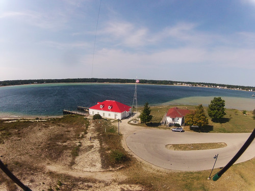 lighthouse kap kiteaerialphotography beaverisland gopro