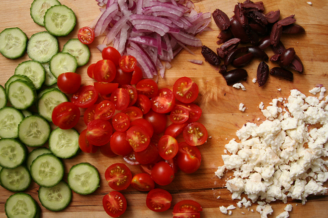 mediterranean chopped salad 3
