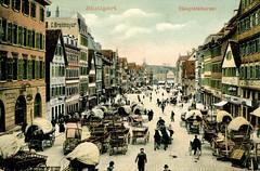 Stuttgart - Hauptstätter Strasse (1905 Postcard)