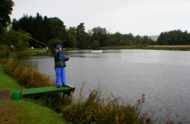 Fishing for Trout, Orchill Loch