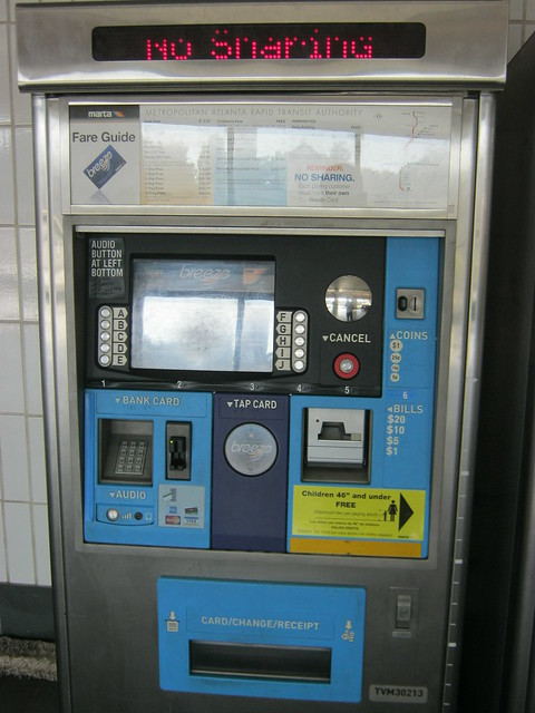 Atlanta subway vendor machine