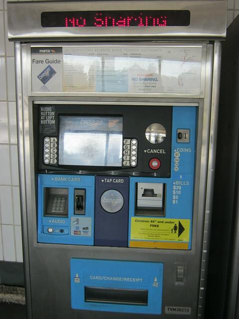 Atlanta subway vendor machine
