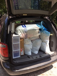 Packing the van for college