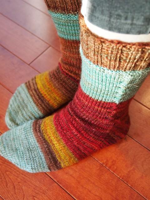 Nestfiberstudio-Galactic Melt-Falkland & BFLNestlets-finished socks