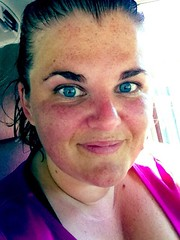 Today's Workout Face (and soaking wet hair)