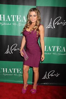 Carmen Electra Bandage Dress Herve Leger Celebrity Style Women's Fashion
