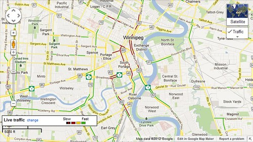 Winnipeg Gets Live Traffic In Google Maps Access Winnipeg
